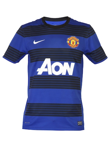 Nike Men Blue Manchester United Jersey
