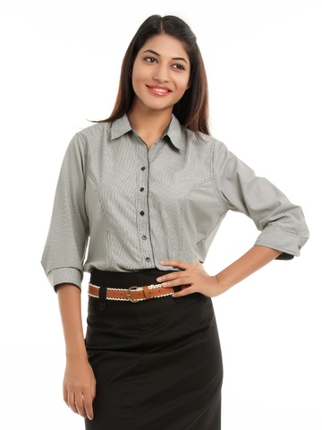 Scullers For Her Black Striped Shirt