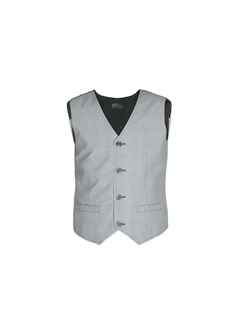 United Colors of Benetton Boys Check Grey Waistcoat