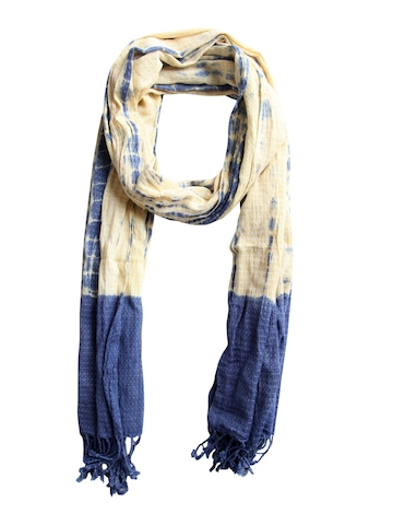 Femella Women Yellow & Blue Scarf