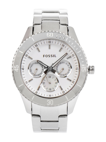 Fossil Women Green Dial Chronograph Watch ES3052