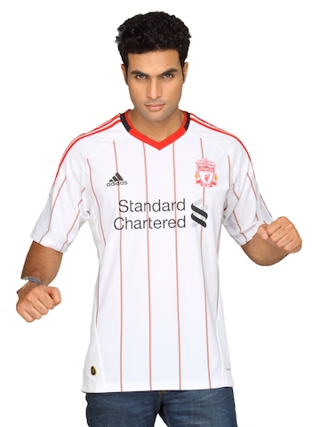 Adidas Men White Liverpool Jersey