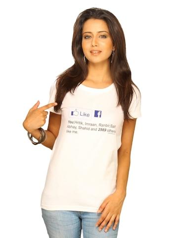 Inkfruit Women's Face Book White T-shirt