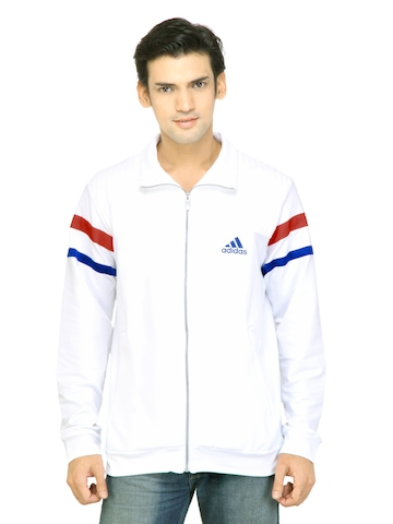Adidas Men White Jacket