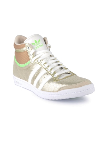 Adidas Originals Women Top Ten HI Sleek Gold Casual Shoes
