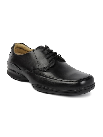 Hush Puppies Men Lace-up Oxfords Black Formal Shoes