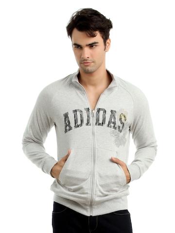 Adidas Men Grey Reversible Sweatshirt