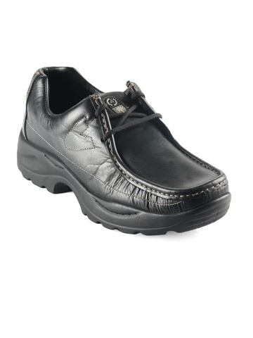 Woodland Men Black Casual Shoes