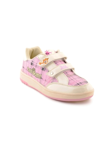 Warner Bros Kids Girls TJ Check Skate Pink Casual Shoes