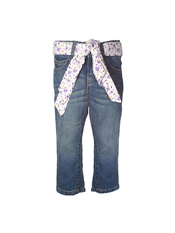 United Colors of Benetton Girls Washed Blue Jeans
