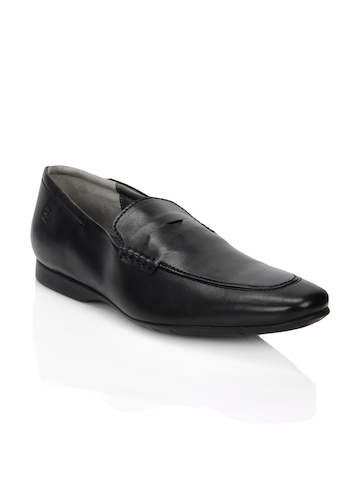 Enroute Men Black Formal Shoes