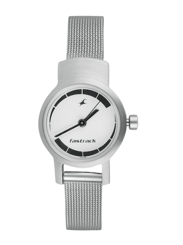Fastrack Women White Dial Watch N2298SM01