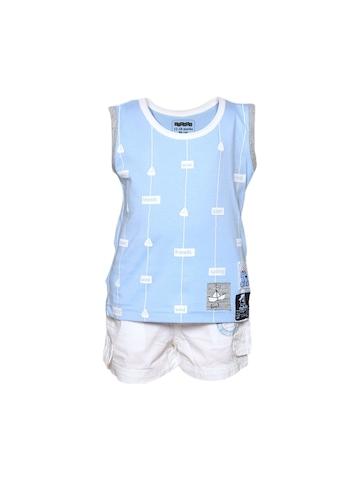 Gini and Jony Boy's Karsen Blue White Infant Kidswear