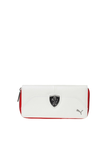 Puma Women White Ferrari Wallet