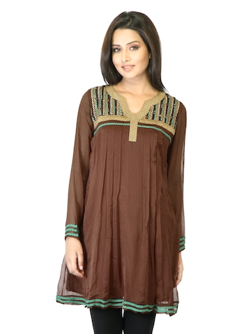 La-Emotio Women Brown Kurta