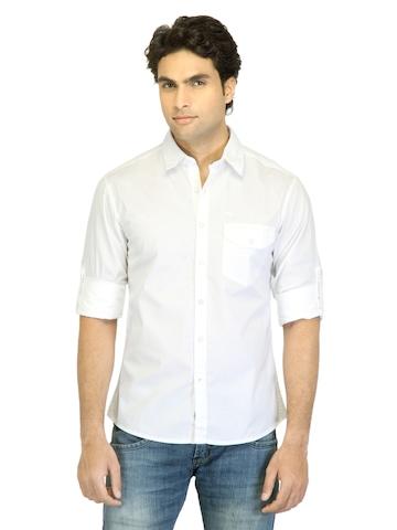 Wrangler Men Griffith White Shirt