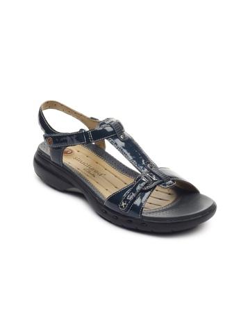 Clarks Women Un Swish Patent Navy Blue Sandals