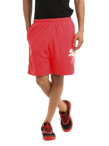 Puma Men Red Cat Logo Shorts