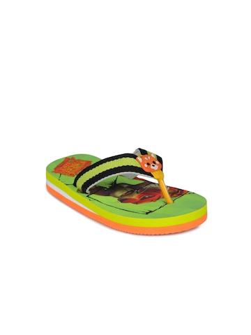 Jungle Book Boys Green Flip Flops
