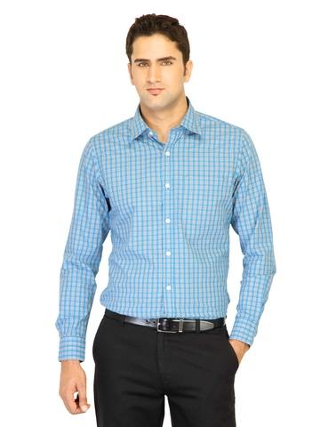 Belmonte Men Check Blue Shirts