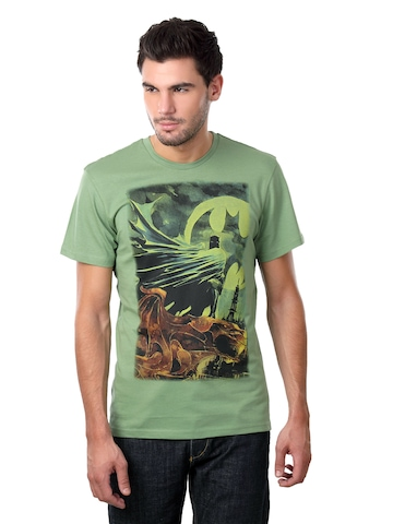 Batman Men Crew Neck Green T-shirt