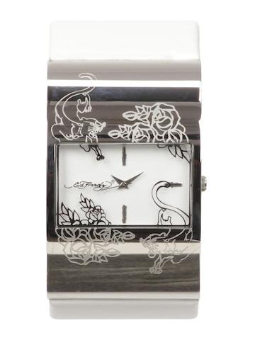 Ed Hardy Women White Dial Watch