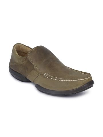 Woodland Men Khaki Shoes