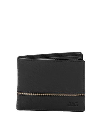 JAG Men Black Leather Wallet