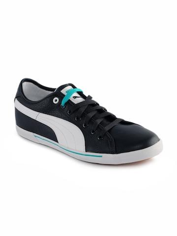 Puma Unisex Benecio Leather Blue Shoes
