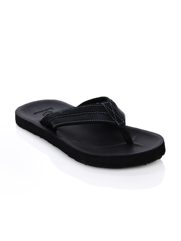 Lotto Men Caesar Slide Black Flip Flops