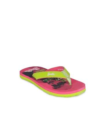 Barbie Pink Girls Slippers