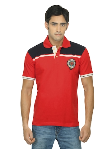 Proline Men Red Polo T-shirt