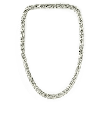 Pitaraa Silver Beaded Sheet Necklace
