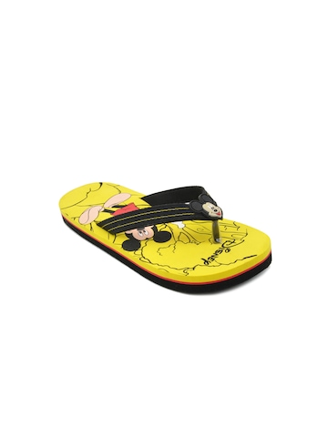 Disney Unisex Kids Mickey Mouse Yellow Flip Flops