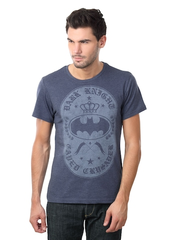 Batman Men Crew Neck Blue T-shirt