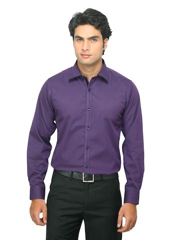 Indigo Nation Men Striped Purple Shirt