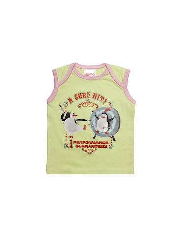Madagascar3 Girls Green Innerwear Vest
