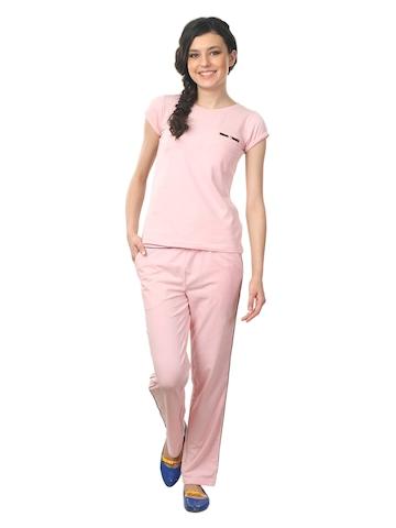 Femella Women Pink Nightdress