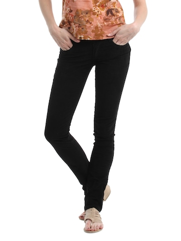 Kraus Jeans Women Black Trousers