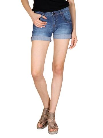 Flying Machine Women Blue Denim Shorts