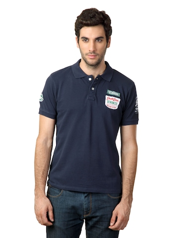 Jack & Jones Men Polo Blue T-shirt