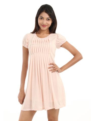 Wills Lifestyle Women Peach Dress