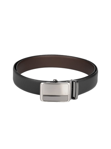 OTLS Men Brown & Black Reversible Leather Belt