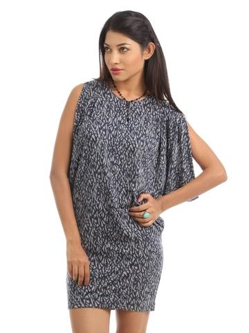 French Connection Women Grey Melange Dress