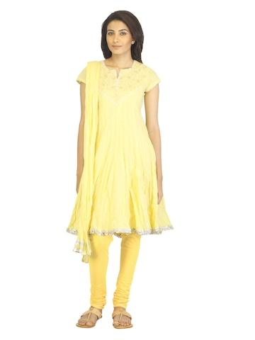BIBA OUTLET Women Yellow Salwar Suit