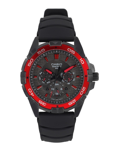 Casio Men Black Dial Chronograph Watch