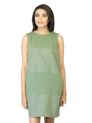 United Colors of Benetton Women Green Dress