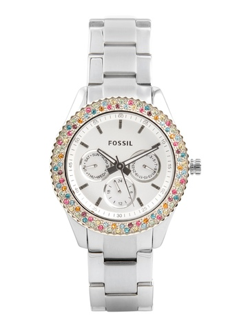 Fossil Women White Dial Chronograph Watch ES3049
