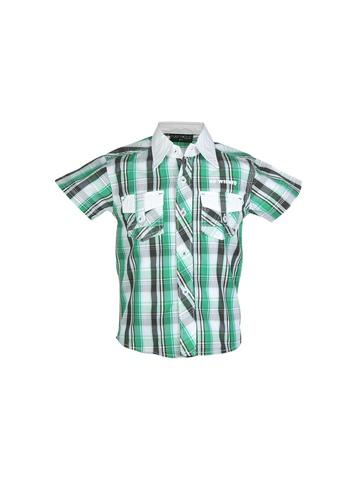 Doodle Kids Boy Check Green Shirt