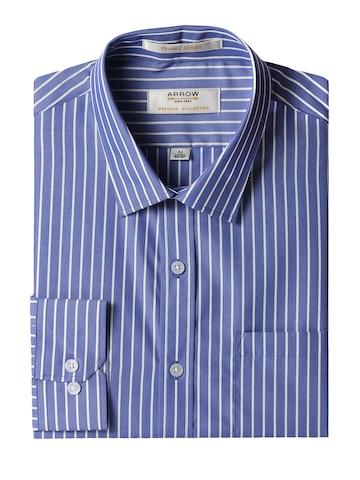 Arrow Men Blue Striped Shirt